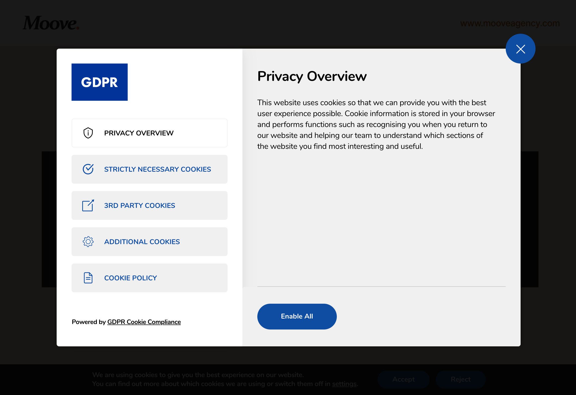 GDPR Cookie Compliance - Front-end - Privacy Overview