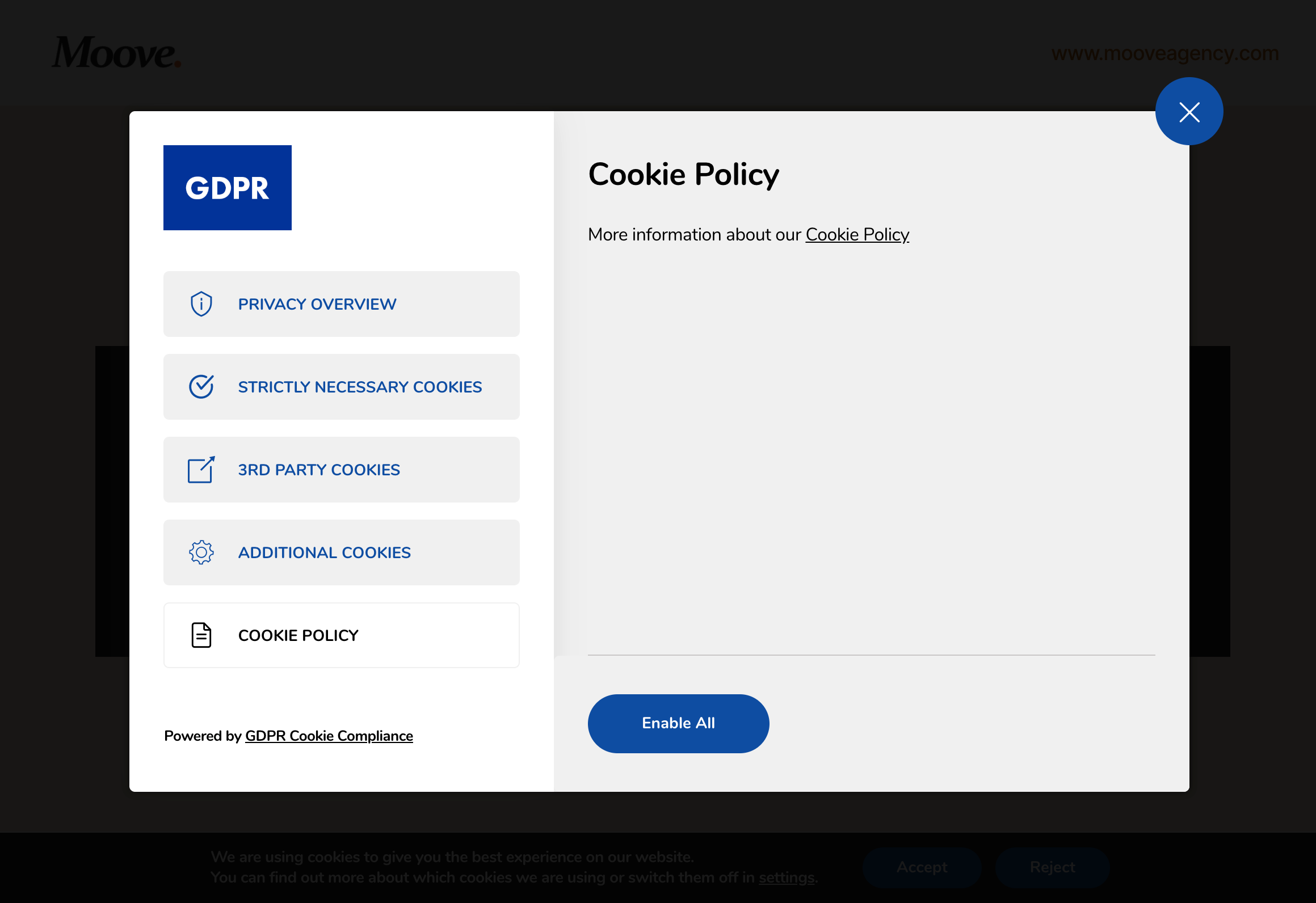 GDPR Cookie Compliance - Front-end - Cookie Policy